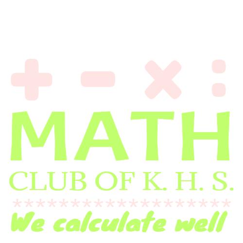 math club of k.h.s we calculate well