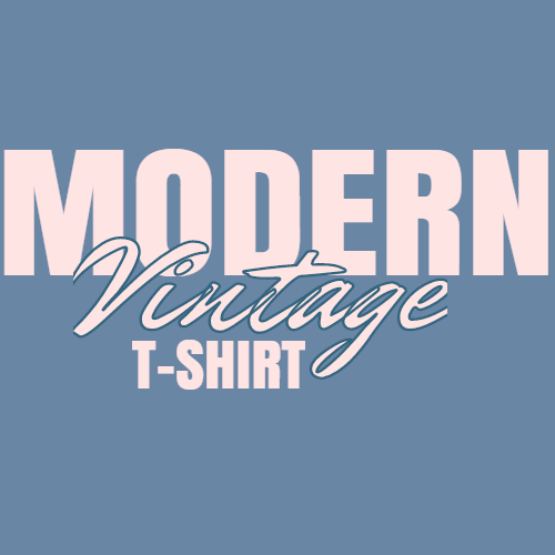 modern vintage t-shirt