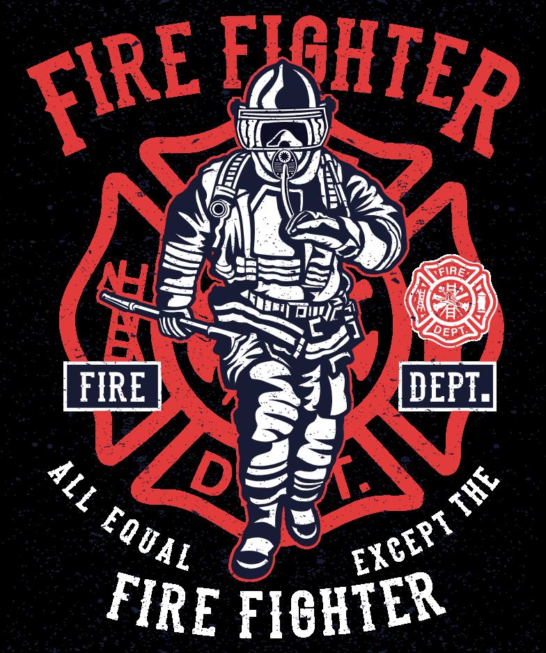 design template firefighter
