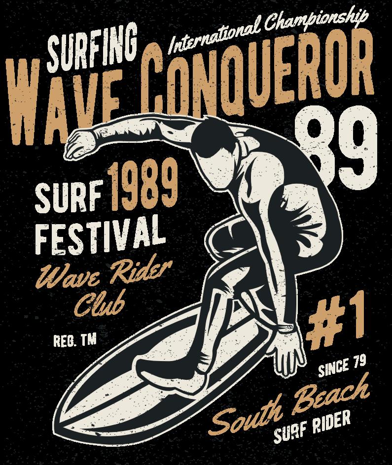 surfing festival poster