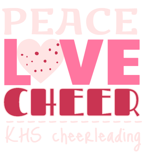 peace love cheer khs cheerleading